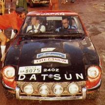 1972 SCR [Sydney start] Car#1 Raunno Aaltonen, Steve Halloran - Datsun 240Z