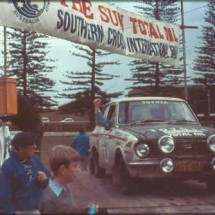 1975 SCR [Oxley Oval Division start ramp] Gary Meehan, Martin Fell - 1969 Toyota Corolla