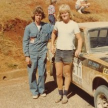 1977 SCR 'Old enough now...' Rex Fowler, Pat Roberts - Datsun 1600