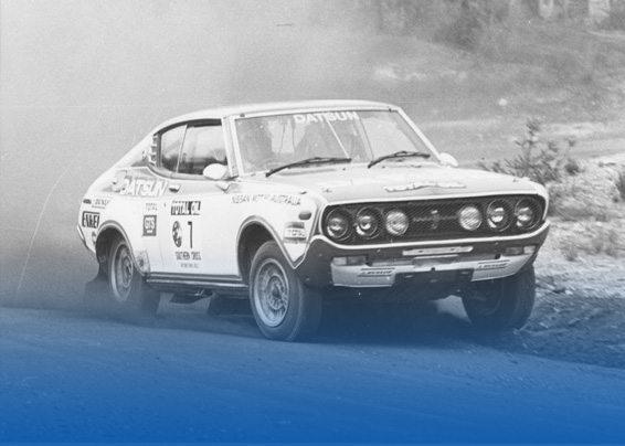1977 Aaltonen wins for Datsun